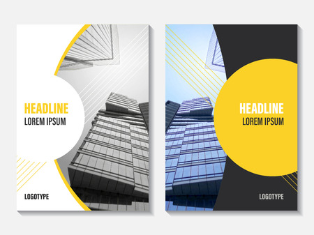 Vector Annual Report cover design. Corporate business template for leaflet, brochure and flyer. Business booklet for catalog, website, advertising and presentation.