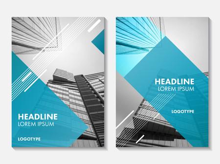 Vector Jahresbericht Cover-Design. Corporate Business Template für Prospekte, Broschüren und Flyer. Business-Broschüre für Katalog, Website, Werbung und Präsentation.