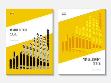 Vector Annual Report Cover Design Corporate Business Template