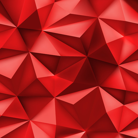 mesh texture: Red background. Abstract triangle mesh texture. Low poly spiky crumpled pattern. 3D pointed effect vector illustration. Illustration