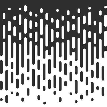 transition: Vector Halftone Transition Abstract Wallpaper Pattern. Seamless Black And White Irregular Rounded Lines Background.