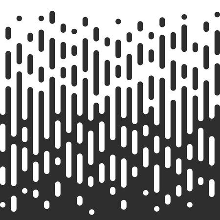 Vector Halftone Transition Effect Abstract Wallpaper Pattern. Seamless noir et blanc irréguliers arrondis Lignes de fond. Vecteurs