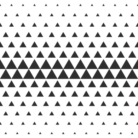triangle pattern: Vector Halftone Transition Abstract Wallpaper Pattern. Seamless Black And White Triangle Background.