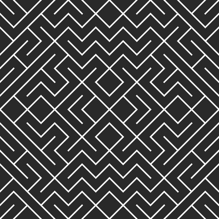 hexagonal pattern: Seamless geometric pattern in pop art design. Vector crossing maze straight lines pattern. Modern stylish texture. Repeating geometric tiles with hexagonal elements.