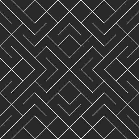 square shape: Vector seamless black and white irregular geometric shape pattern. Square blocks pattern abstract background.
