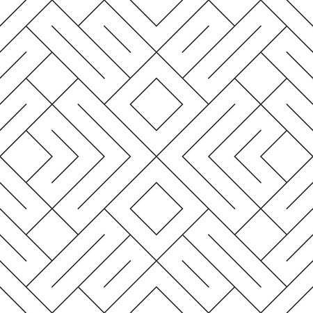 braids: Vector seamless pattern. Modern stylish texture. Geometric striped ornament. Monochrome linear braids