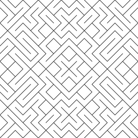 Vector seamless background. élégant moderne répéter texture géométrique avec motif de carreaux losanges et les n?uds.