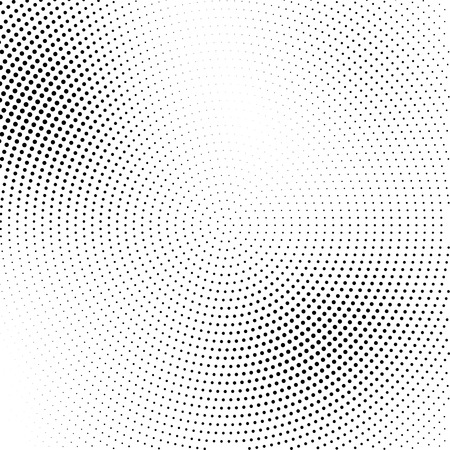 transition: Vector halftone abstract transition dotted circular pattern wallpaper. Abstract halftone effect black dots geometric background.