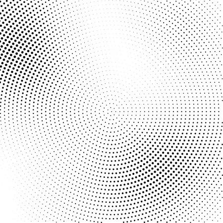 Vector halftone transition abstraite parsemée fond d'écran de motif circulaire. effet de demi-teinte résumé des points noirs d'arrière-plan géométrique.