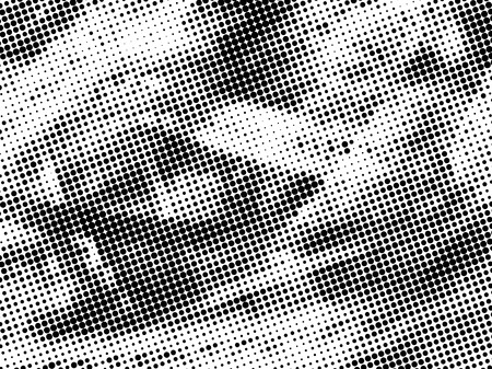 dusty: Vector dirty grain halftone background with rubber stamp dots effect. Black dusty grain background.