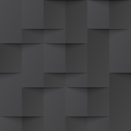 intertwined: Vector black intertwined tile pattern background. Seamless geometric twisted interwoven design. 3D texture interior wall panel for graphic or website template