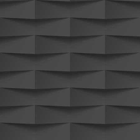 Vector black intertwined tile pattern background. Seamless geometric twisted interwoven design. 3D texture interior wall panel for graphic or website template