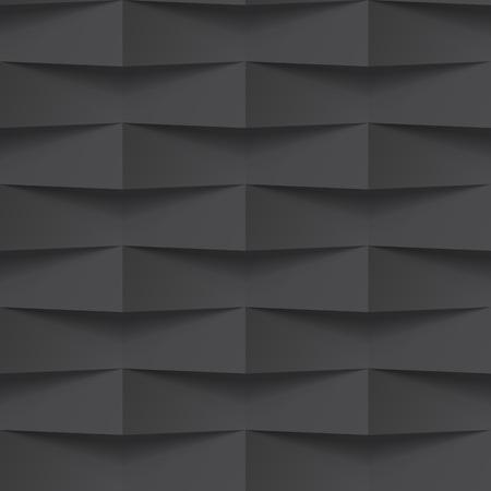 Vector negro entrelazado fondo del modelo del azulejo. diseño entretejido trenzado geométrico transparente. El panel de pared interior de la textura 3D para la plantilla gráfica o sitio web