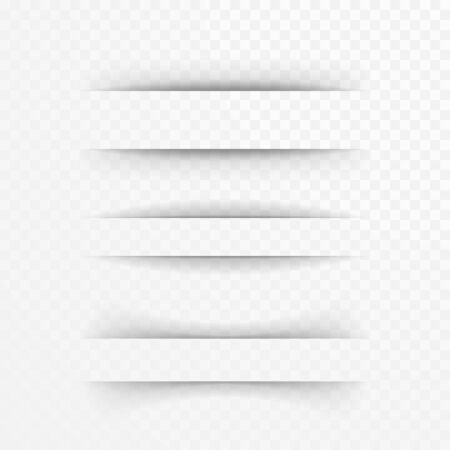 banner effect: Paper sheet shadow effect. Vector transparent realistic shadows set for advertising banner templates.Vector shadow with multiply layer effect