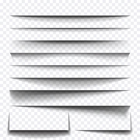multiplicar: Hoja de papel efecto de sombra. Vector transparentes sombras realistas para sombra publicidad de la bandera Templates.Vector con efecto de capa se multiplican Vectores