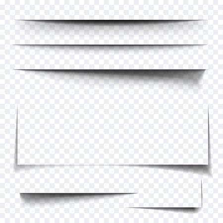 Arkusz papieru efekt cienia. Wektor transparent realistyczne cienie ustawiony na baner reklamowy Templates.Vector cieniem z wielowarstwowego efektu warstwy Ilustracje wektorowe