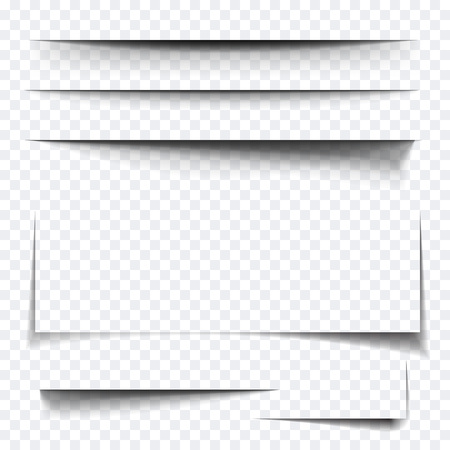 multiply: Paper sheet shadow effect. Vector transparent realistic shadows set for advertising banner templates.Vector shadow with multiply layer effect