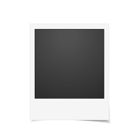 instant photo: Vector Instant photo frame. Realistic paper photograph with shadow isolated on white background Illustration