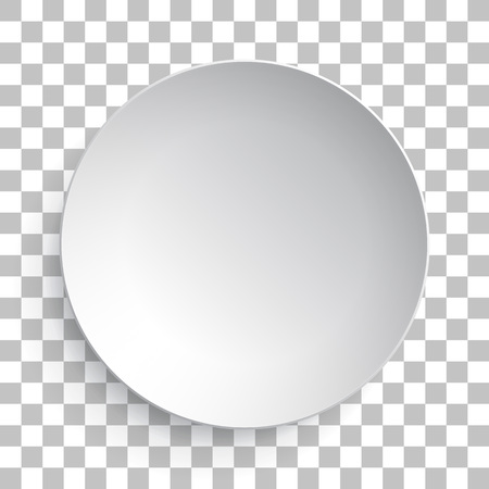 porcelain plate: Empty white dish plate isolated 3d mockup model. Vector round porcelain, ceramic dinner plate. Illustration on transparent background Illustration
