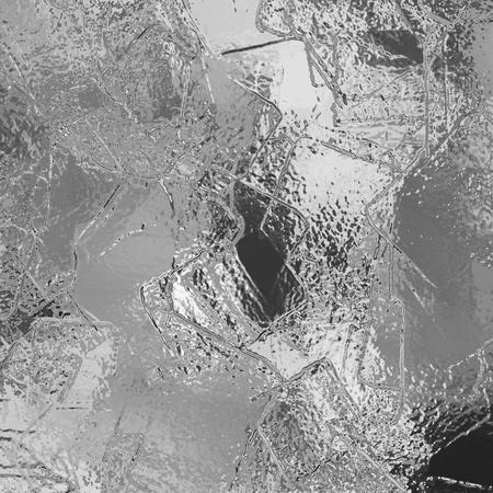 material de vidrio: Resumen de fondo de estuco de plata. Crystal superficie congelada de hielo brillo. Metal de la placa áspero, roto agrietada textura de vidrio cristalizado