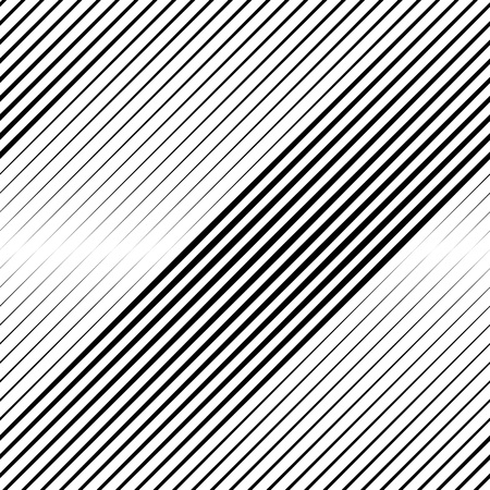 halftone: Vector Halftone Line Transition Abstract Wallpaper Pattern. Seamless Black And White Irregular Lines Background