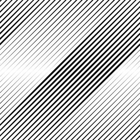 Vektor Halbton-Übergang Abstrakt Wallpaper Pattern. Nahtlose Schwarzweiß Unregelmäßige Linien Hintergrund Vektorgrafik
