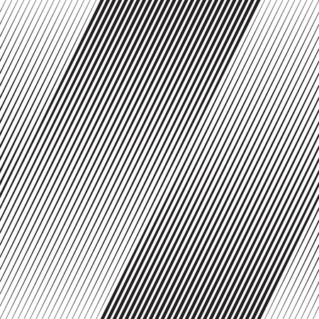 Vector Halftone Ligne Transition Abstract Wallpaper Pattern. Seamless noir et blanc irréguliers Lignes de fond Banque d'images - 64530673