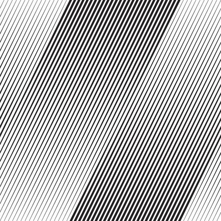 Vektor Halbton-Übergang Abstrakt Wallpaper Pattern. Nahtlose Schwarzweiß Unregelmäßige Linien Hintergrund