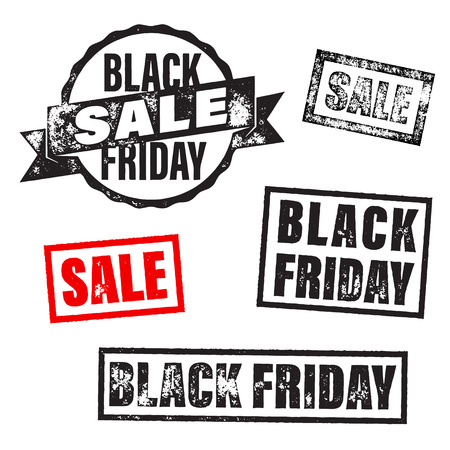 discount tag: Black Friday Sale banner stamp. Vector online shop promo poster. Black Friday stamp tag discount percent, price cut off promo gift card