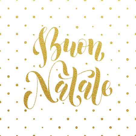 buon: Buon Natale greeting for Italian Merry Christmas, Xmas holiday card. festive text for  poster, invitation background