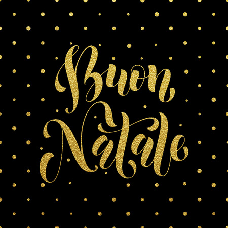 anno: Buon Natale greeting for Italian Merry Christmas, Xmas holiday card. festive text for  poster, invitation background