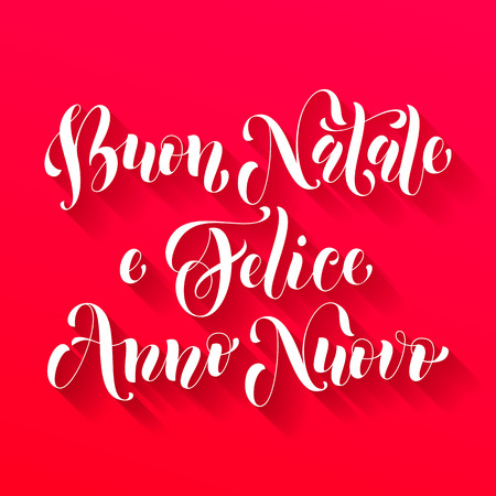 anno: Buon Natale, Felice Anno Nuovo italian greeting for Merry Christmas, Xmas, Happy New Year holiday card.  festive text for  poster, invitation background