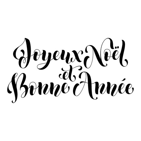 anne: Joyeux Noel greeting for French Merry Christmas, Xmas holiday card.  festive text for poster, invitation background