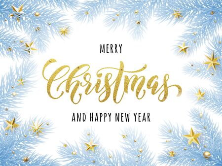 Merry Christmas, Happy New Year Greeting Card, Poster Template ...