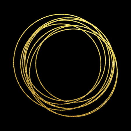 gold circle: Rings of golden glitter. Gold sparkling abstract circles with golden foil gilding texture. Festive vector background for Christmas and New Year prmium design