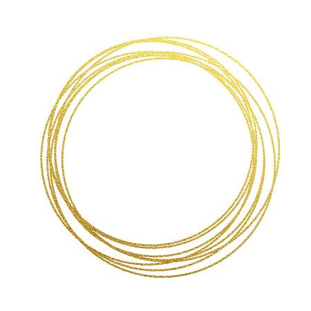 círculos dourados e anéis. Elemento de design de decoração de textura dourada em dourado. Fundo festivo para o Ano Novo e ornamentos de cartões de Natal. Elementos de design de giro espumantes para decoração de interiores