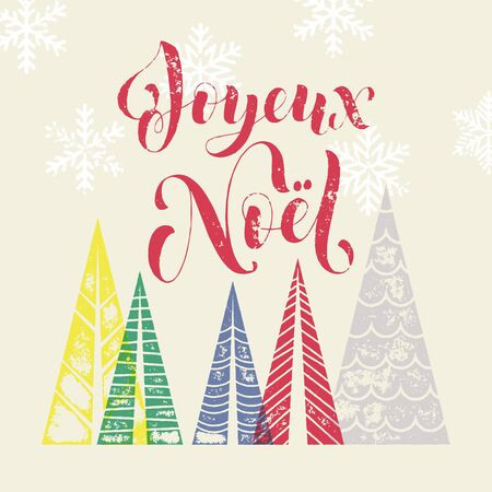 French winter holidays greeting card with text joyeux noel and 66973492 winter background for french christmas joyeux greeting card joyeux noel in france holiday merry christmas greeting card text with pine tree m4hsunfo