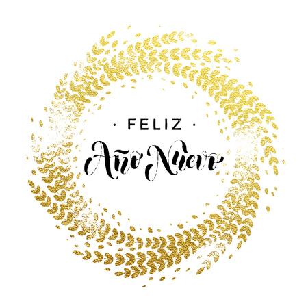 Spanish new year feliz ano nuevo gold greeting card festive spanish new year feliz ano nuevo gold greeting card festive royalty free cliparts vectors and stock illustration image 66198768 voltagebd Gallery