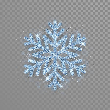 Golden snowflake with glitter texture for Christmas, New Year