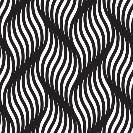braided: Abstract seamless pattern of braided curve lines. Vector background of braided curls twisted waves and wavy ripples. Smooth zigzag textile tracery wallpaper or wrapping paper Illustration