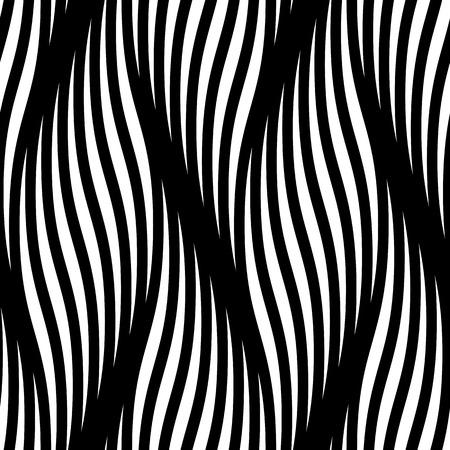 Seamless avec des vagues vecteur de fond. Moderne abstraite motif de fond lignes tressées vagues texture. Braid friser ondulations ondulées torsadées. Entremêlant papier peint textile tracery, papier d'emballage