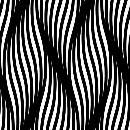 sin patrón, con olas de vectores. Moderna resumen de antecedentes patrón de líneas trenzadas olas textura. Trenza de enrollamiento ondulaciones onduladas retorcidos. Entretejiendo fondo de pantalla tracería textil, papel de regalo
