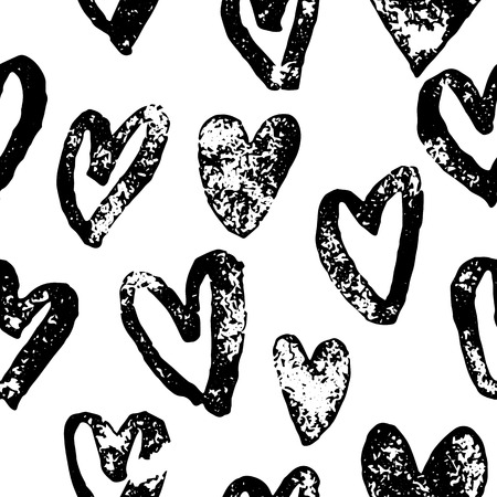 valentine hearts pattern saint valentine day red heart seamless background hand drawn art for greeting