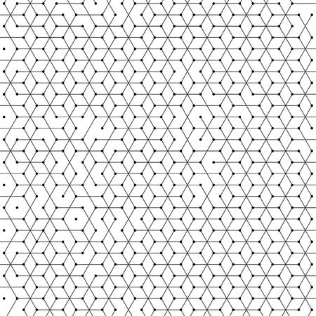 Hexagonal cells background of abstract hexagon geometric mesh pattern. Polygonal net structure of lines connection with dots