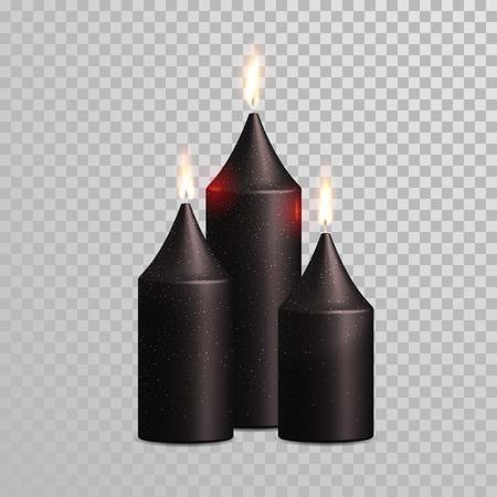 Aromatische Grüne Kerzen Vector Realistische 3d Brennen