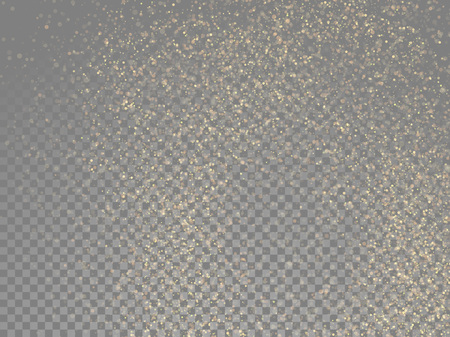 Vector golden glitter wave abstract sparkling particles light on transparent background