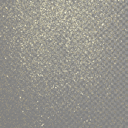 Vector particles golden dust, shimmering glitter texture
