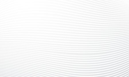 Wavy seamless white wave textured background for Interior wall decoration. 3D panel wavy pattern of abstract waves  イラスト・ベクター素材