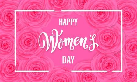 妇女节贺卡的鲜花图案背景。3月8日女性假日的短信