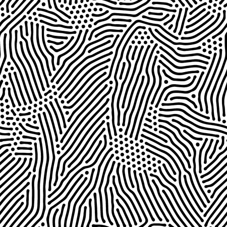 jumble: Abstract background of vector organic irregular lines and dots pattern. Black and white chaotic design